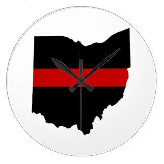 Thin Red Line Ohio Clock