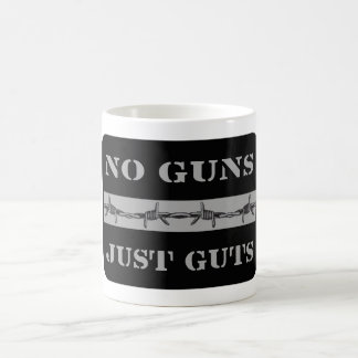 THIN SILVER LINE No Guns Just Guts Corrections Mug