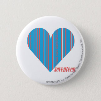 Thin Stripes Aqua 3 6 Cm Round Badge
