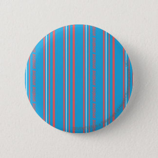 Thin Stripes Aqua 6 Cm Round Badge