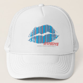 Thin Stripes Aqua Trucker Hat