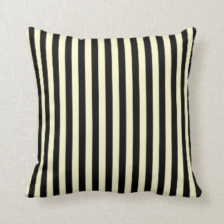 Thin Stripes - Black and Cream Cushion