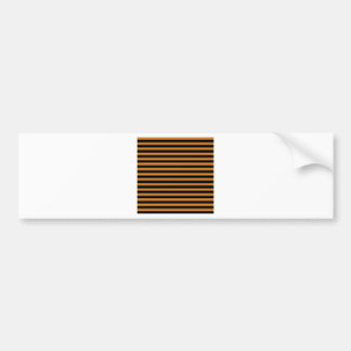 Thin Stripes - Black and Ochre Bumper Sticker