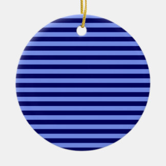 Thin Stripes - Light Blue and Dark Blue Christmas Ornament