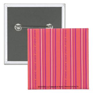 Thin Stripes LtPink 15 Cm Square Badge
