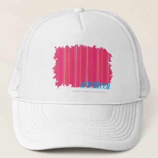 Thin Stripes Magenta 2 Trucker Hat