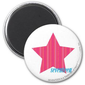 Thin Stripes Magenta 3 6 Cm Round Magnet