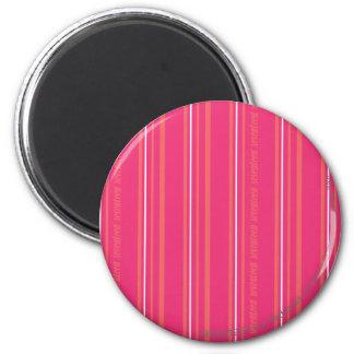 Thin Stripes Magenta 6 Cm Round Magnet