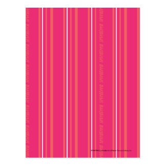 Thin Stripes Magenta Postcard