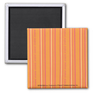 Thin Stripes Orange Fridge Magnets