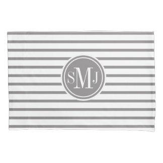 Thin Stripes Pattern Monogrammed Pillowcase