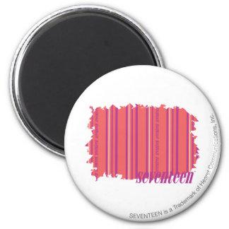Thin Stripes Pink 2 6 Cm Round Magnet