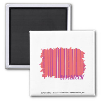 Thin Stripes Pink 2 Magnets