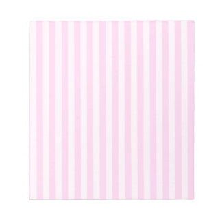 Thin Stripes - Pink and Light Pink Notepad