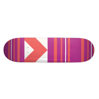 Thin Stripes Purple 21.6 Cm Skateboard Deck