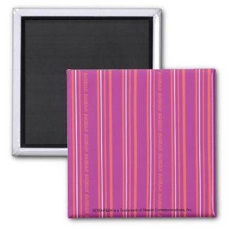 Thin Stripes Purple Refrigerator Magnet
