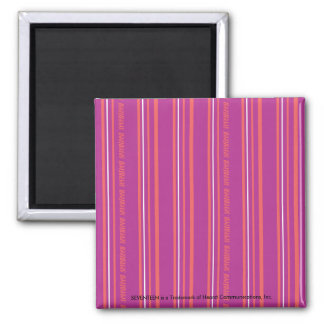 Thin Stripes Purple Fridge Magnet