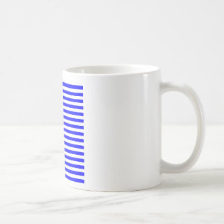 Thin Stripes - White and Blue Coffee Mugs