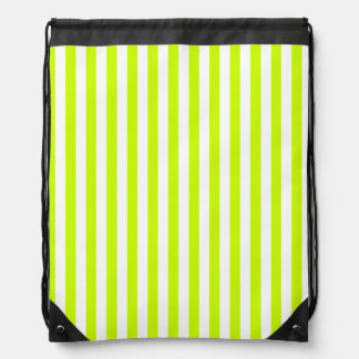 Thin Stripes - White and Fluorescent Yellow Backpack
