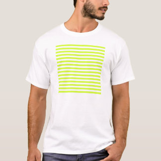 Thin Stripes - White and Fluorescent Yellow T-Shirt
