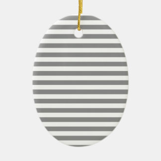 Thin Stripes - White and Gray Ornaments