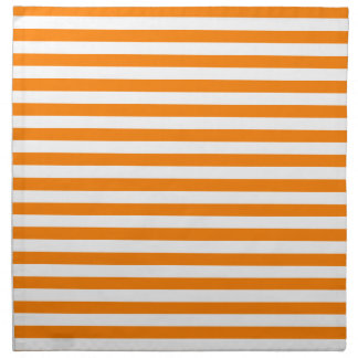 Thin Stripes - White and Orange Napkin