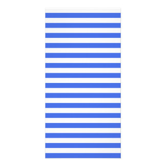 Thin Stripes - White and Royal Blue Customised Photo Card