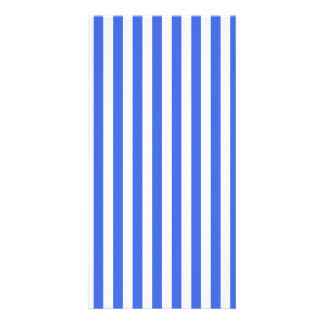 Thin Stripes - White and Royal Blue Picture Card