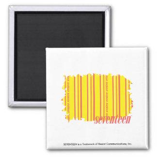 Thin Stripes Yellow 2 Magnet