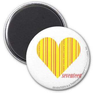 Thin Stripes Yellow 3 Magnet