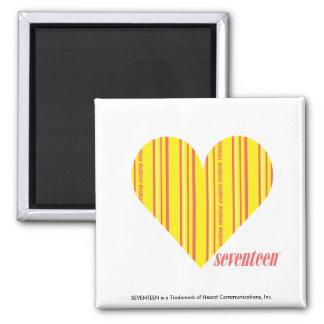 Thin Stripes Yellow 3 Fridge Magnet