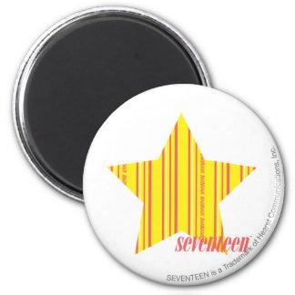 Thin Stripes Yellow 4 6 Cm Round Magnet
