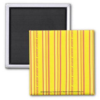 Thin Stripes Yellow Fridge Magnet
