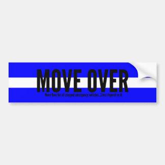 Thin White Line Move Over Bumper Sticker