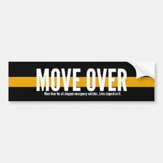 Thin Yellow Line Move Over Bumper Sticker