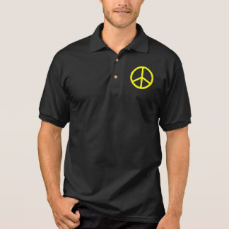 Thin Yellow Peace Sign Polo Shirt
