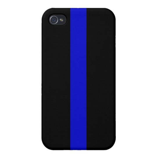 ThinBlueLine2 iPhone 4 Cover