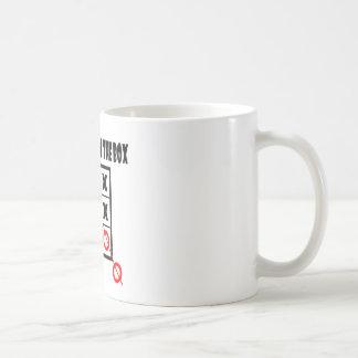 Thing outside the box mug