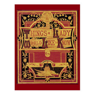 Things A Lady Postcard