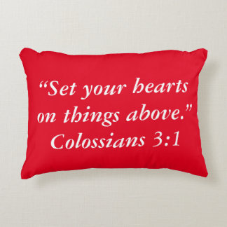 """""""Things Above"""" Scripture Pillow"""