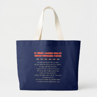 Things I Learned From My German Wirehaired Pointer Jumbo Tote Bag
