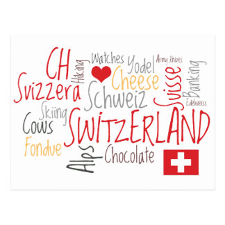 Things I Love About Switzerland, Cheese, Chocolate Postcard
