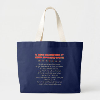 Things Learned From My German Shorthaired Pointer Jumbo Tote Bag