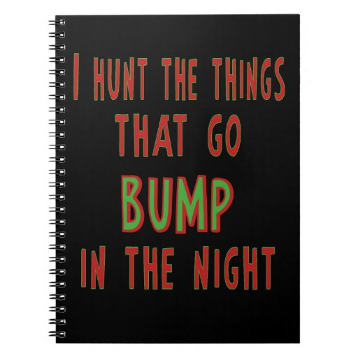 Things That Go Bump In the Night Spiral Note Book