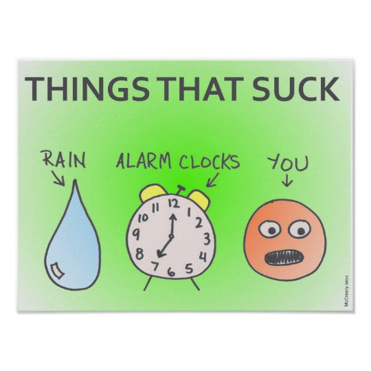 """Things That Suck"" Poster"