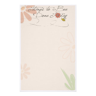"""things to """"bee"""" done stationery"""