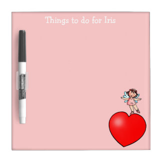 Things to do Board -  Little Dancer on Red Heart