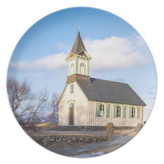 Thingvellir National Park in Iceland Plate