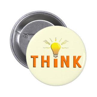 Think 6 Cm Round Badge