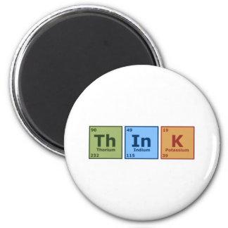 Think 6 Cm Round Magnet